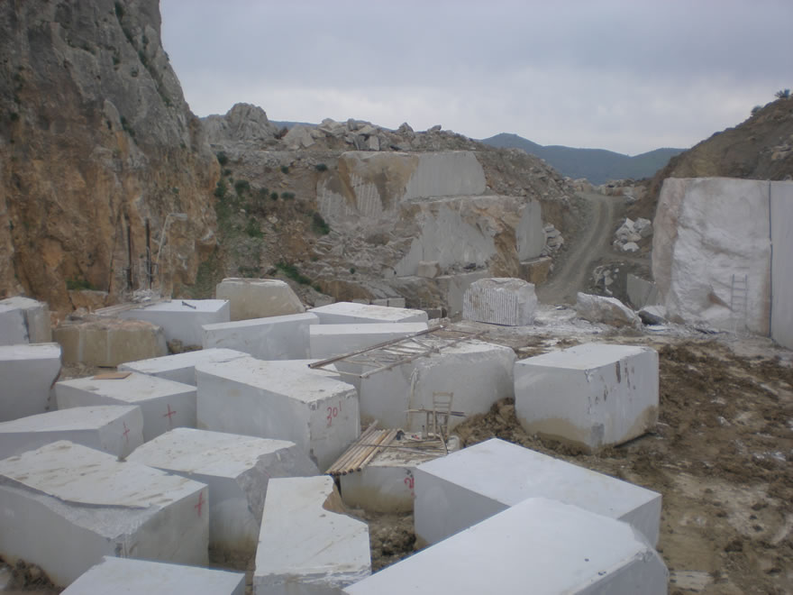 Gortynis Grey Marble Quarry Kampourakis Marbles S A